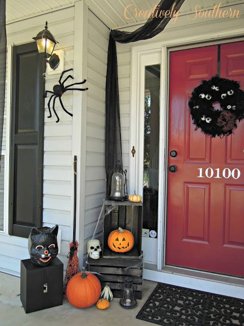 halloween porch decorating - Halloween Front Doors
