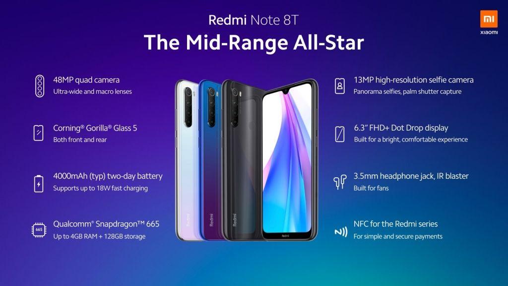 Xiaomi Redmi Note 8t المواصفات والمميزات والسعر صدى التقنية Gorilla Glass Macro Lens Samsung Galaxy Phone