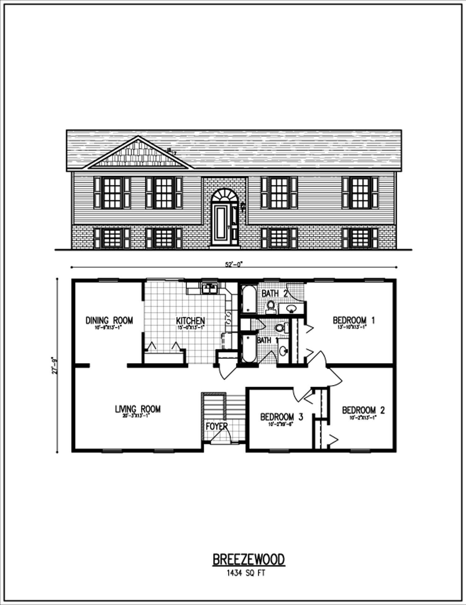 Typical Raised Ranch Plan Ranch House Designs Bungalow Floor Plans Floor Plans Ranch