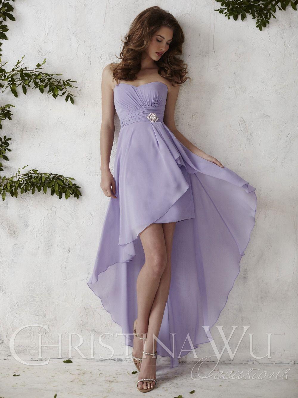 Strapless high low chiffon overlay estilo avond jurken a linha do