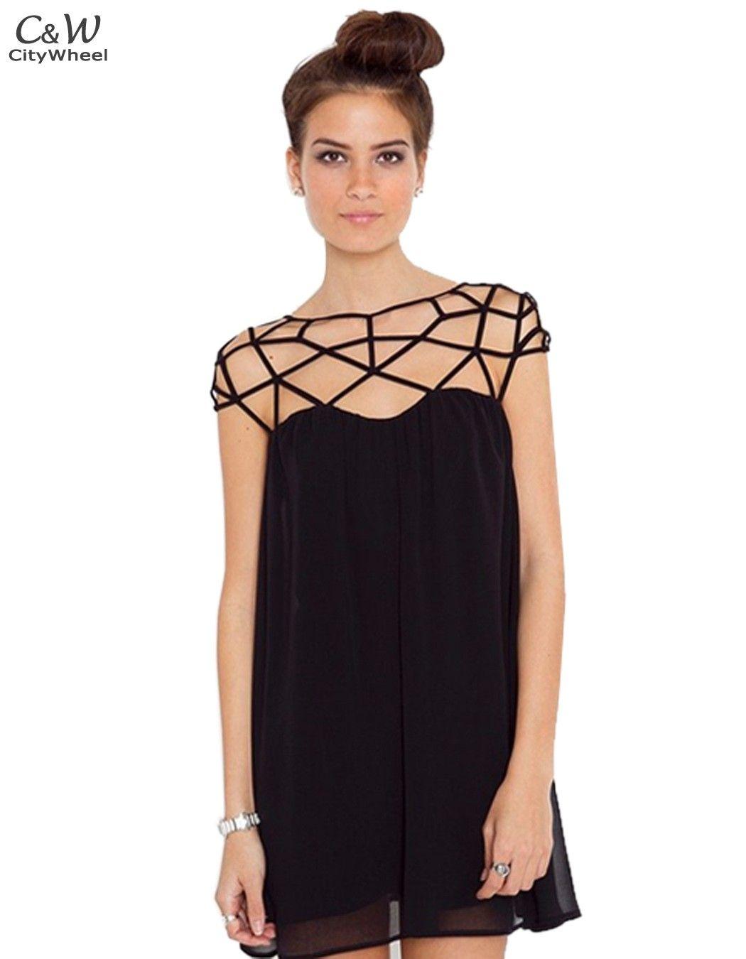 5d63dbab15e Платье бандажное полые шифон Mini