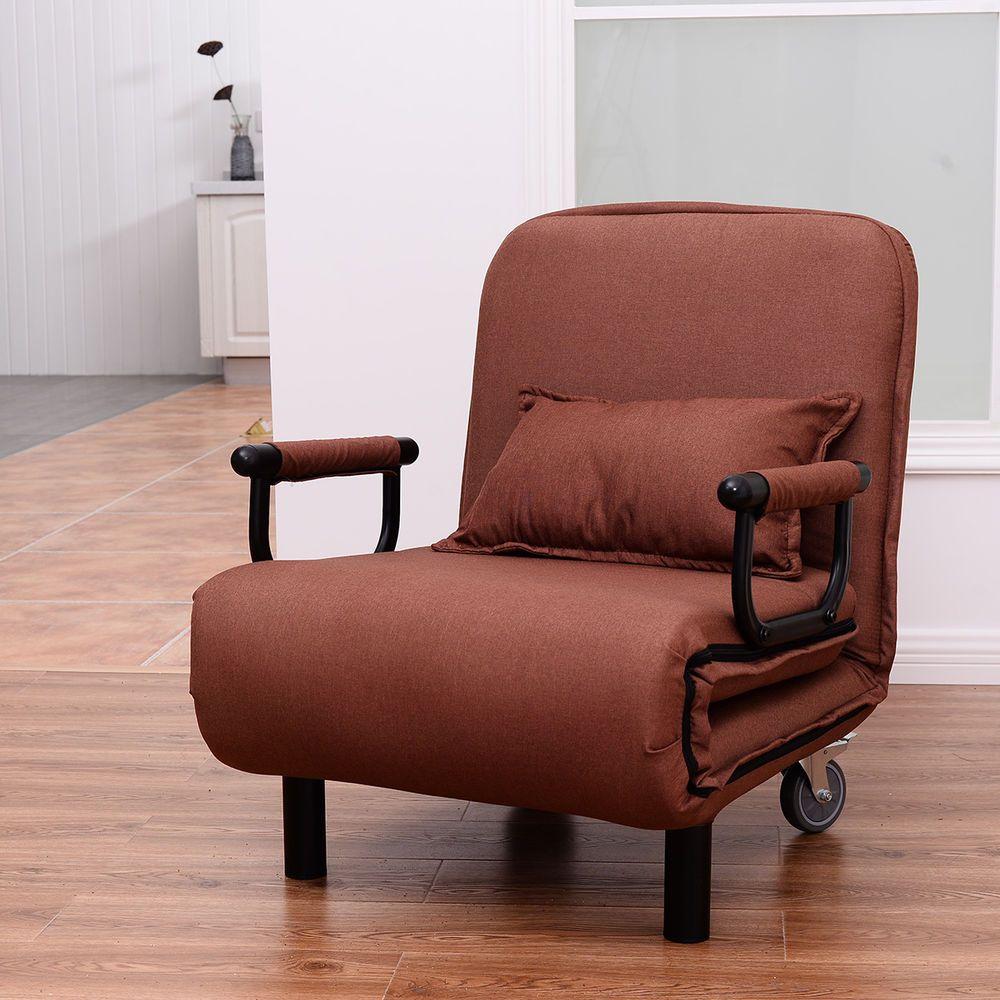 Folding Convertible Sofa Bed Arm Chair Sleeper Leisure