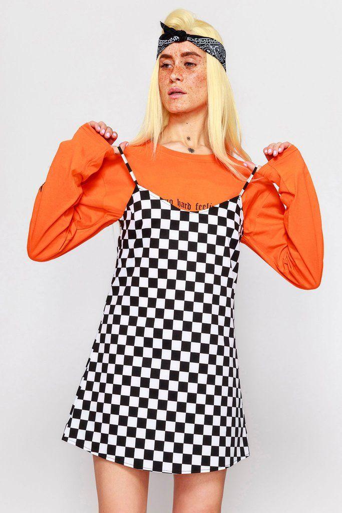 a9804363faba6 Checkerboard Cami Dress