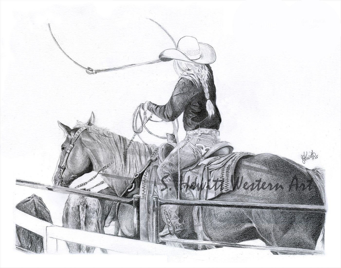 Western pencil art visit s hewitt western art on facebook