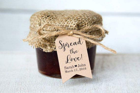 Spread The Love Tag Wedding Favor Tags Jam Wedding Favors