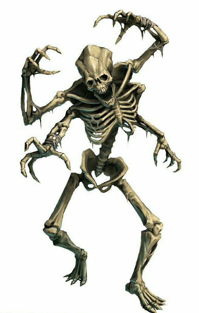 Xill Skeleton - Pathfinder PFRPG DND D&D d20 fantasy