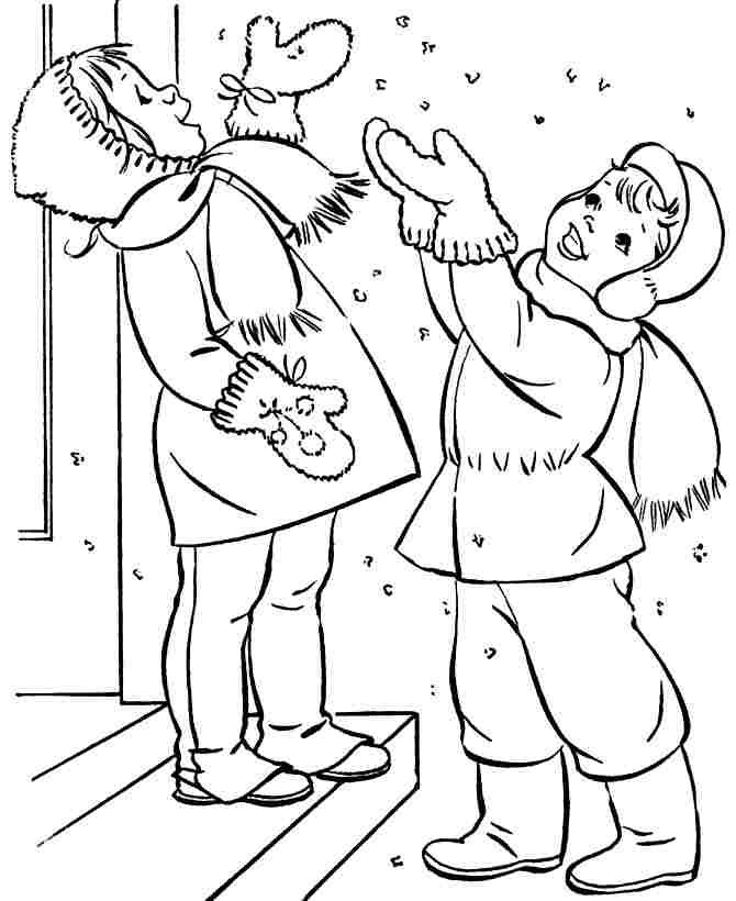Winter Season Colouring Pages Printable For Kindergarten 8