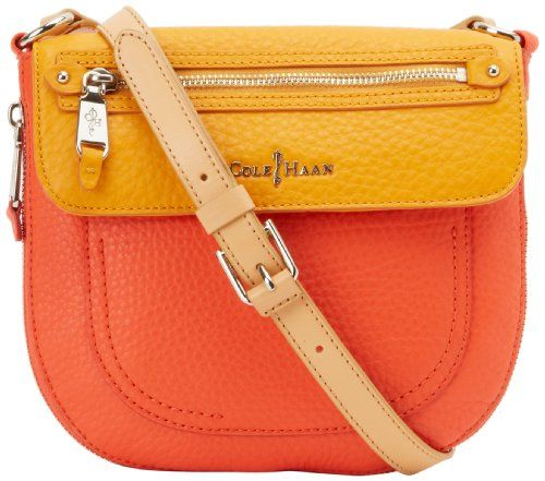 Cole Haan Crosby Colorblock Canteen B42018 Cross Body,Orange Pop/Citrine,One Size | PurseCute.com