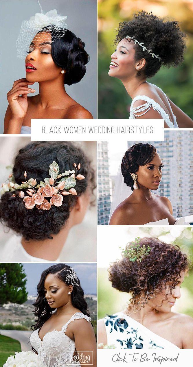 42 Black Women Wedding Hairstyles That Full Of Style Wedding Forward Black Wedding Hairstyles Natural Hair Wedding Natural Wedding Hairstyles