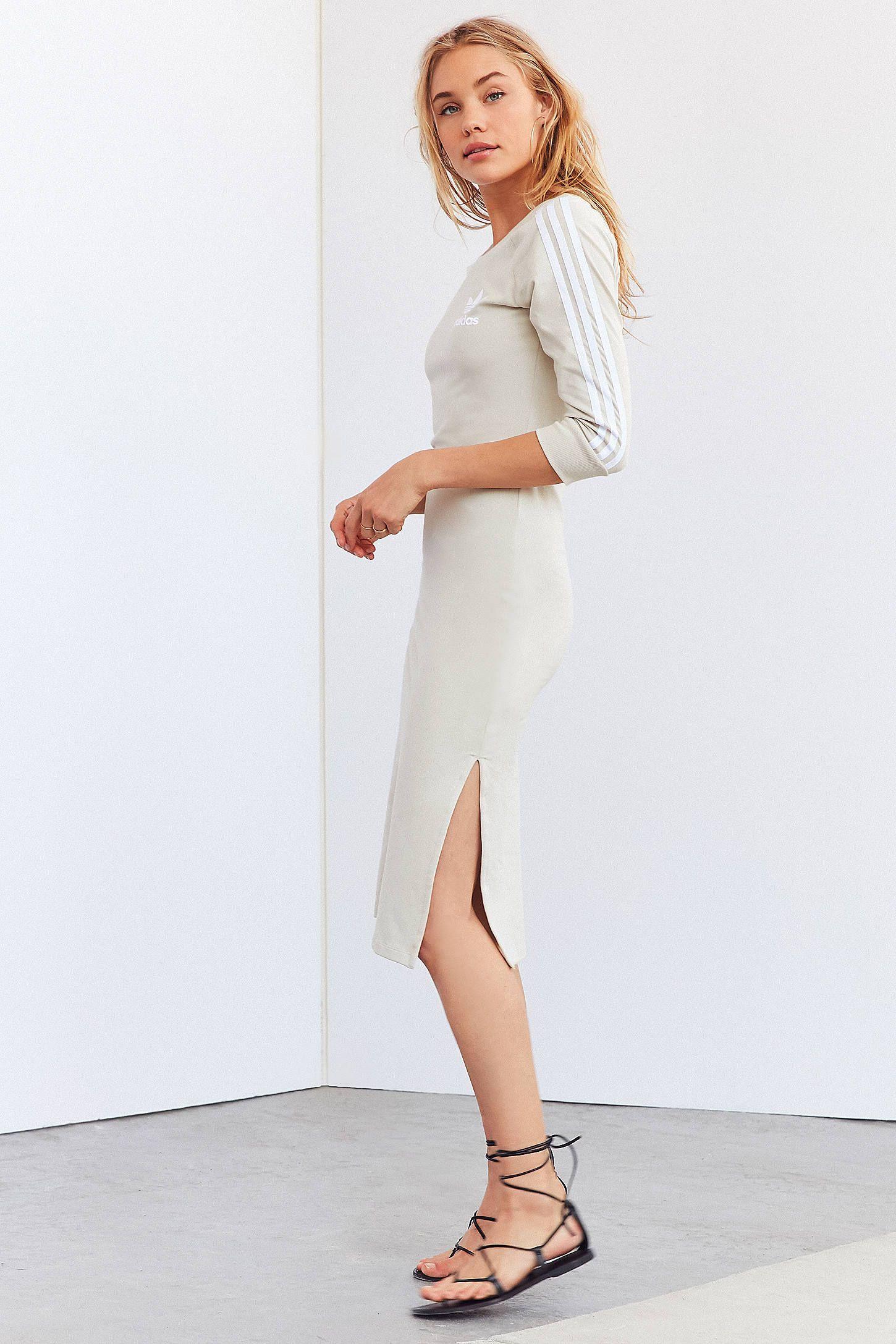 f5af9ec406 Slide View  1  adidas Originals 3 Stripe Midi Dress