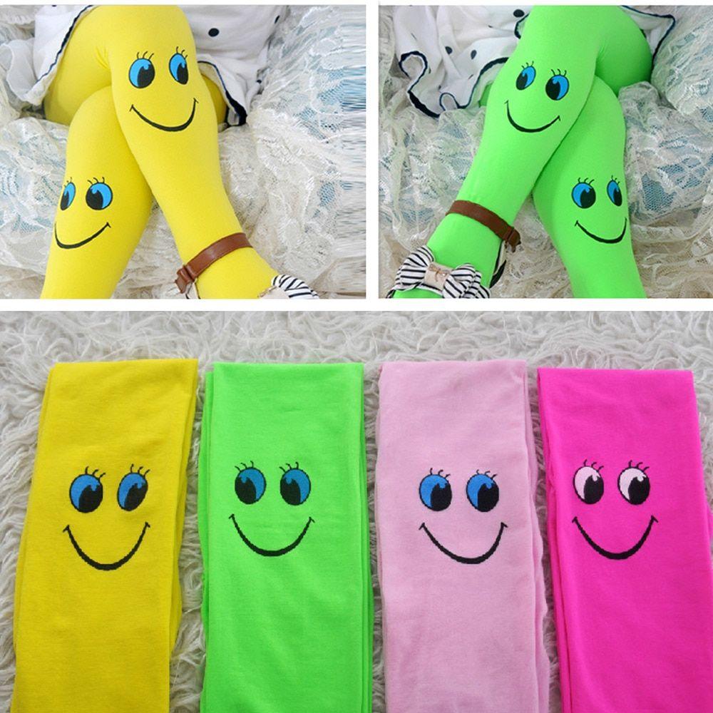 Cute Soft Girls Ballet Socks Pantyhose Cartoon Smile Stockings Tights