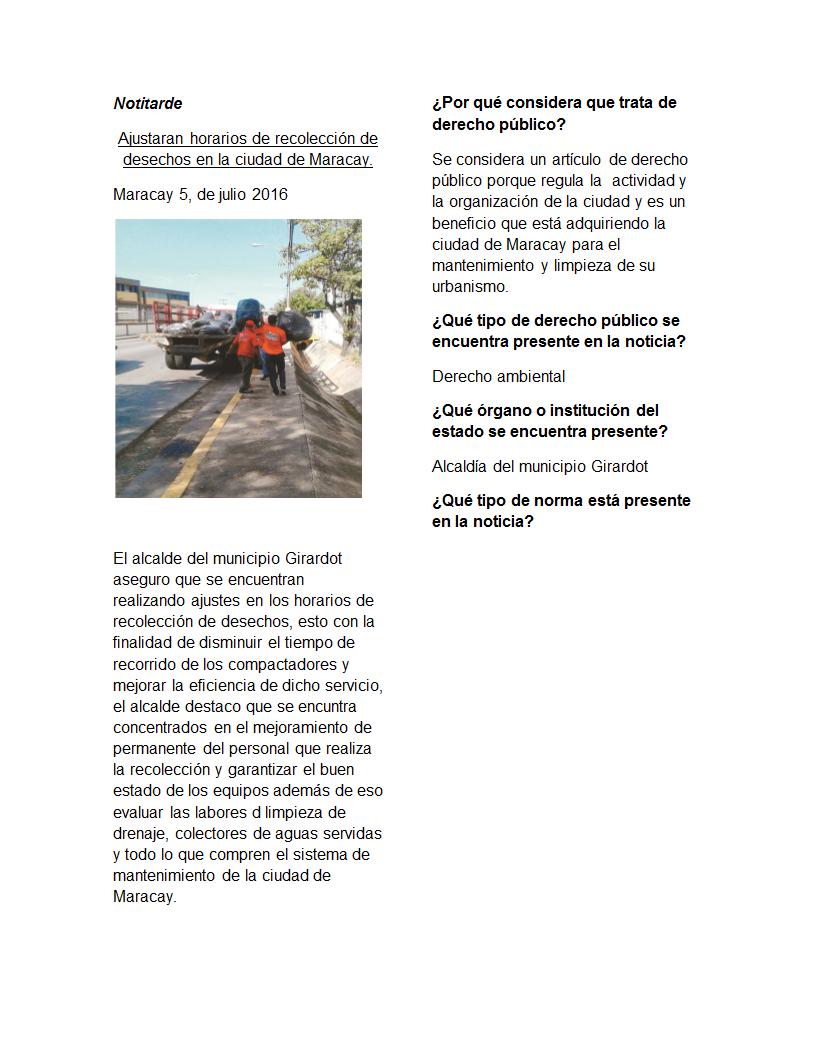 Ajustaran horarios de recolección de desechos en la ciudad de Maracay.docx