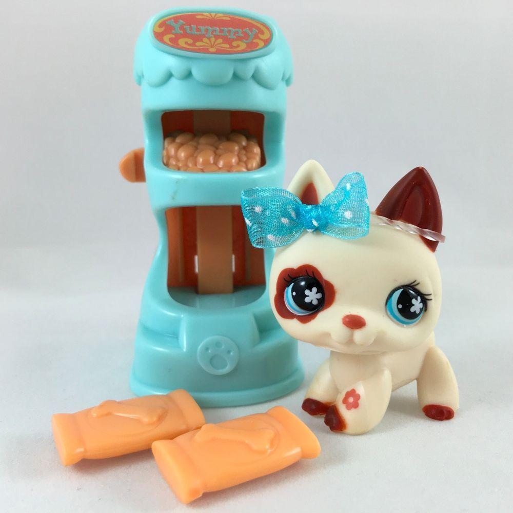 Littlest Pet Shop Cream/Brown German Shepherd 544 w/Treat