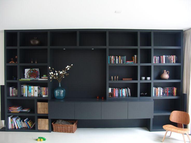Afbeeldingsresultaat voor kastenwand woonkamer | Bookcases & Display ...