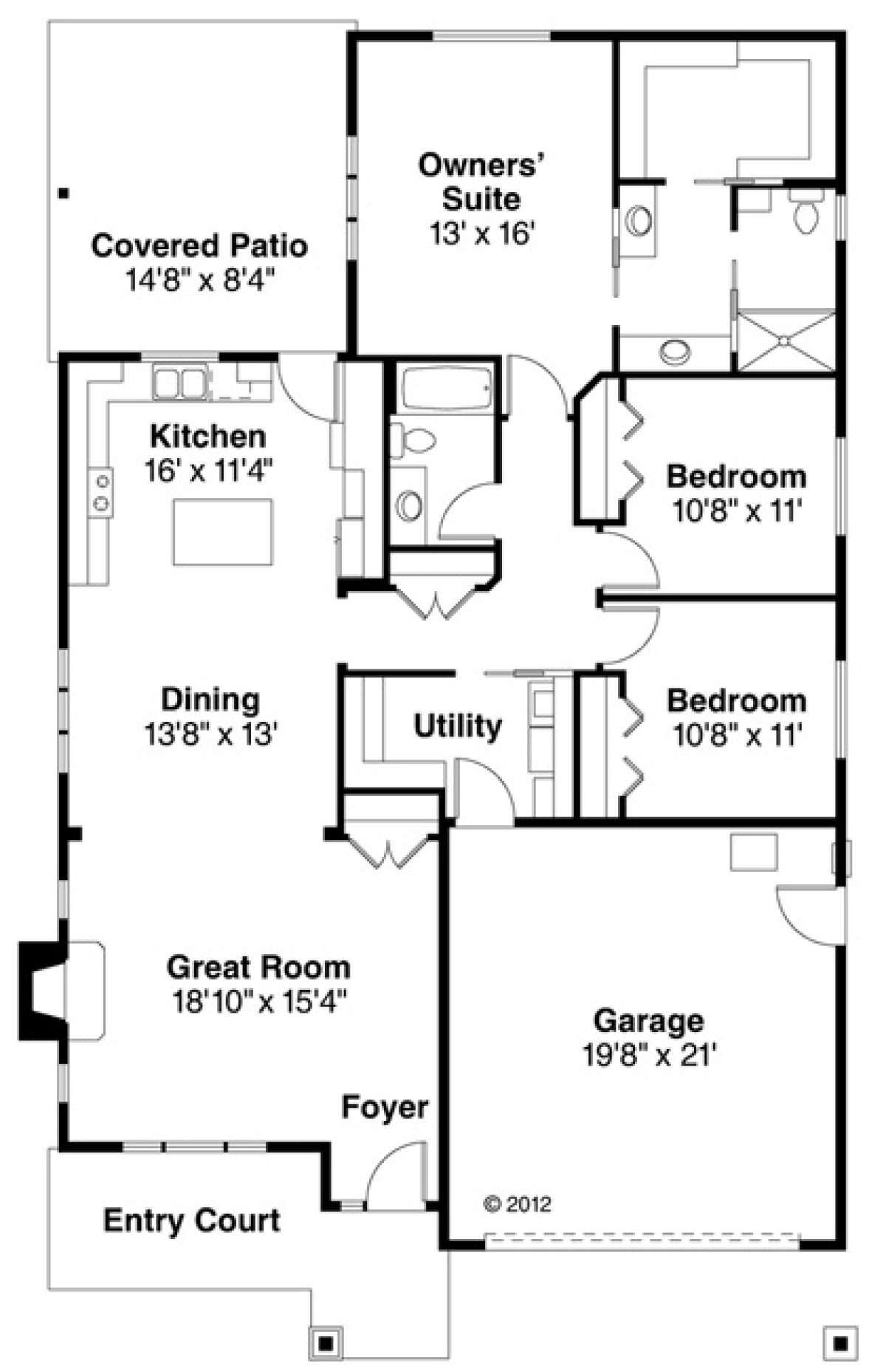House Plan 035 00614 Cottage Plan 1 737 Square Feet 3 Bedrooms 2 Bathrooms In 2021 Garage Floor Plans Bungalow House Plans House Plans