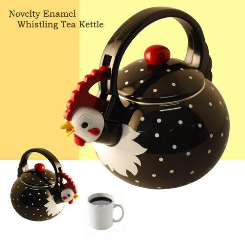 Rooster Whistling Tea Kettle ! Whistling tea kettle