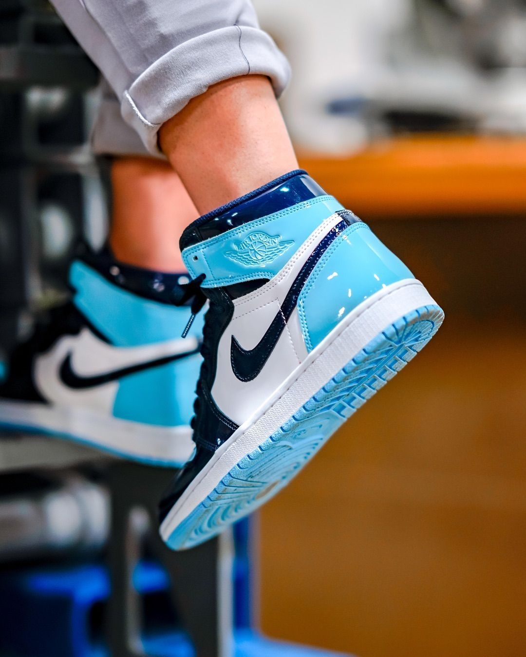 Showstoppers. Get the Air Jordan 1 OG 'Blue Chill' tomorrow ...