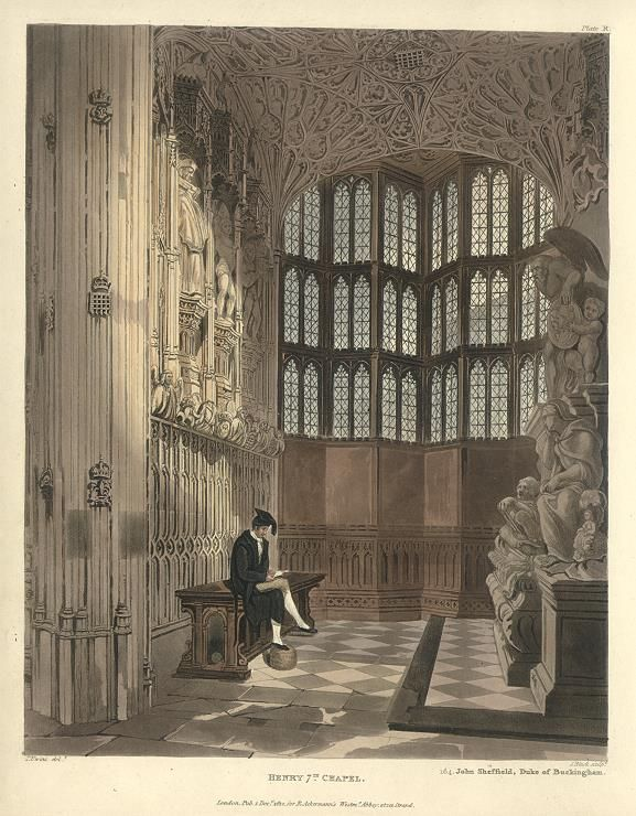 Westminster Abbey, Henry the Seventh's Chapel, 1812