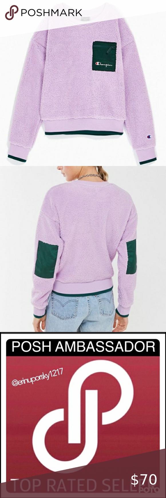 Vintage Details Nwt Rare Champion Uo Exclusive Nwt Neck Designs Clothes Design Sweatshirt Tops [ 1740 x 580 Pixel ]