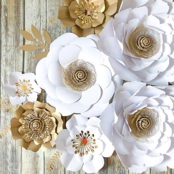 Large Paper Flower Wedding Backdrop, Wedding Arch Flowers, Paper Flowers Wall Decor, Bridal Shower Floral Decorations, Wedding Reception #easypaperflowers