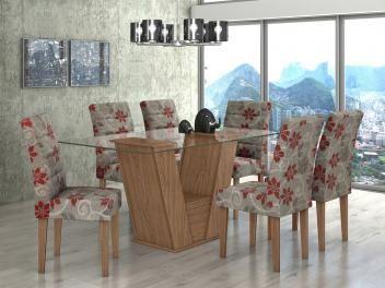 Conjunto de Mesa 6 Cadeiras Lopas - Fiorella (cód. magazineluiza.com 2150088) de R$ 2.299,00 por R$ 2.177,90 em até 10x de R$ 217,79 sem juros no cartão de crédito  ou R$ 2.069,00 à vista.