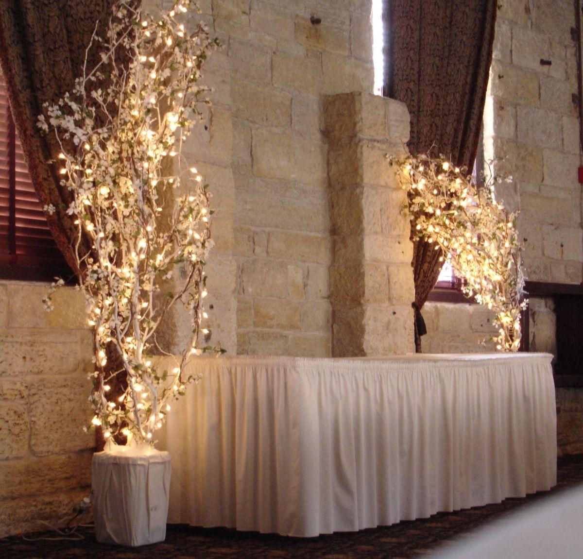 Wedding Gift Table, Cool Lights
