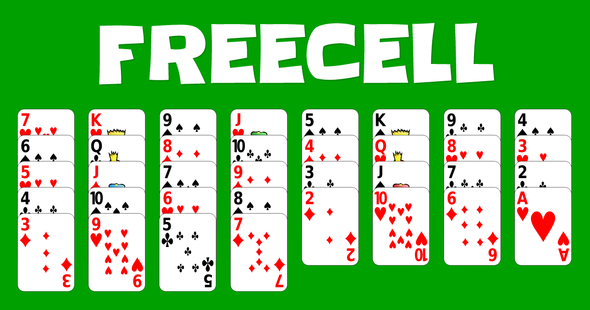 Play FreeCell Solitaire online for free.