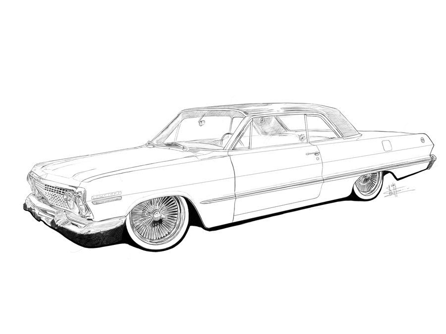 Lowrider Coloring Pages Google Search Lowrider Drawings Cars