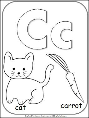 lettercalphabetcardforcoloring for teachers