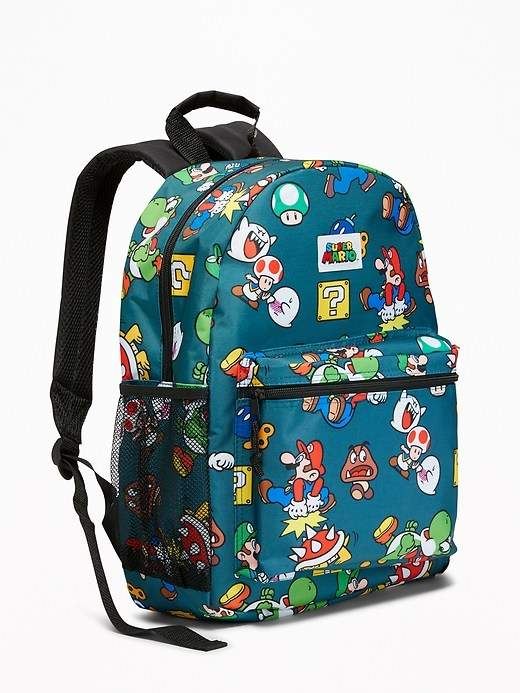 78043d2e6439 Super Mario Backpack for Kids