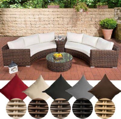 Poly-Rattan Garten Lounge Set rund, BARBADOS, 2x 3er-Sofa - gartenmobel lounge rund