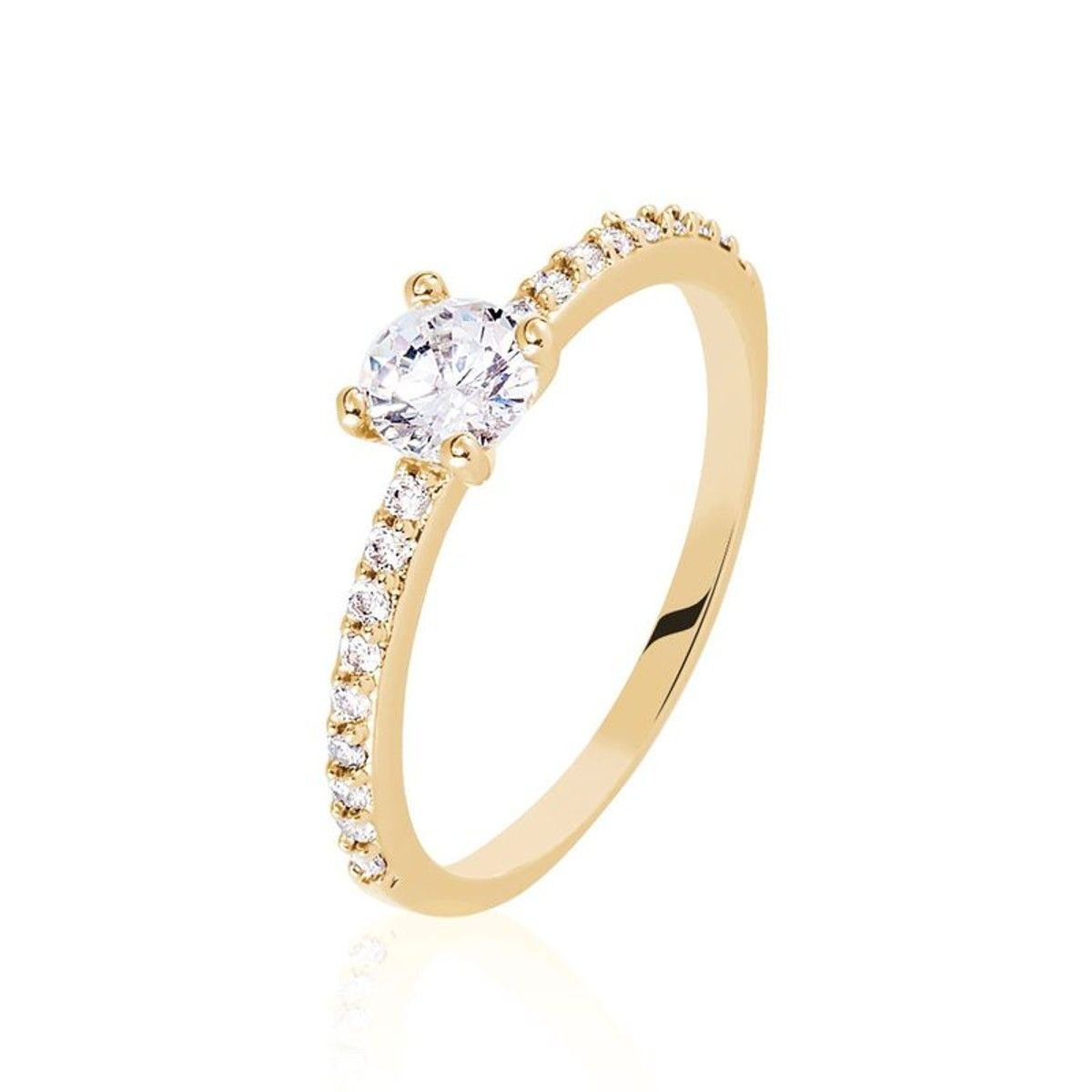 bague solitaire or