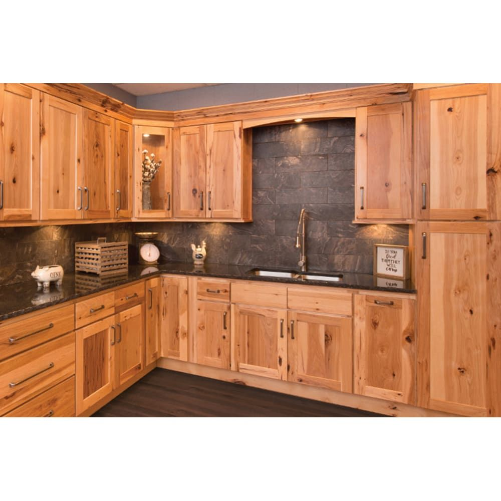 Faircrest Hickory Shaker Kitchen Cabinets Hickory Kitchen Cabinets Hickory Kitchen Rustic Kitchen Cabinets