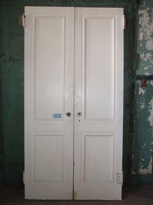Item ID: 20132 Description:Two Panel Interior Double Doors. Material:  Dimension: