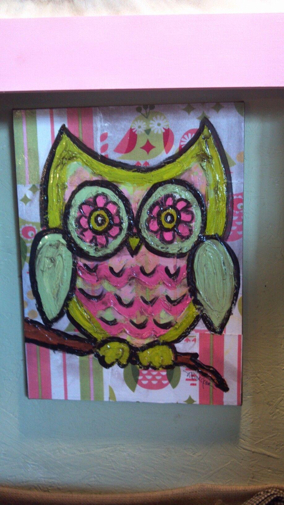 owl for nursery room decor  nursery paintings nursery