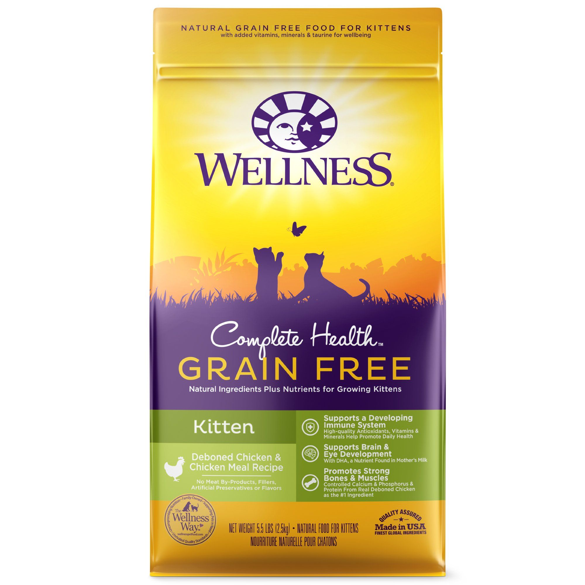 Wellness Complete Health Natural Grain Free Deboned Chicken Chicken Meal Dry Kitten Food 5 5 Pound Bag 5 Lbs Dog Food Recipes Natural Pet Food Dry Dog Food