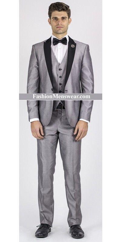 Giovanni Testi Slim Fit Suit - Silver- Prom 2017! | men\'s fashion ...