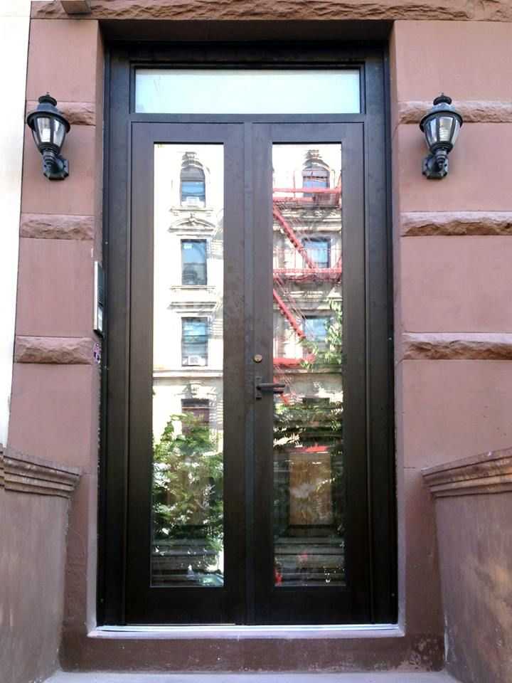 Brownstone Aluminum Front Door Morningside Heights Nyc Www