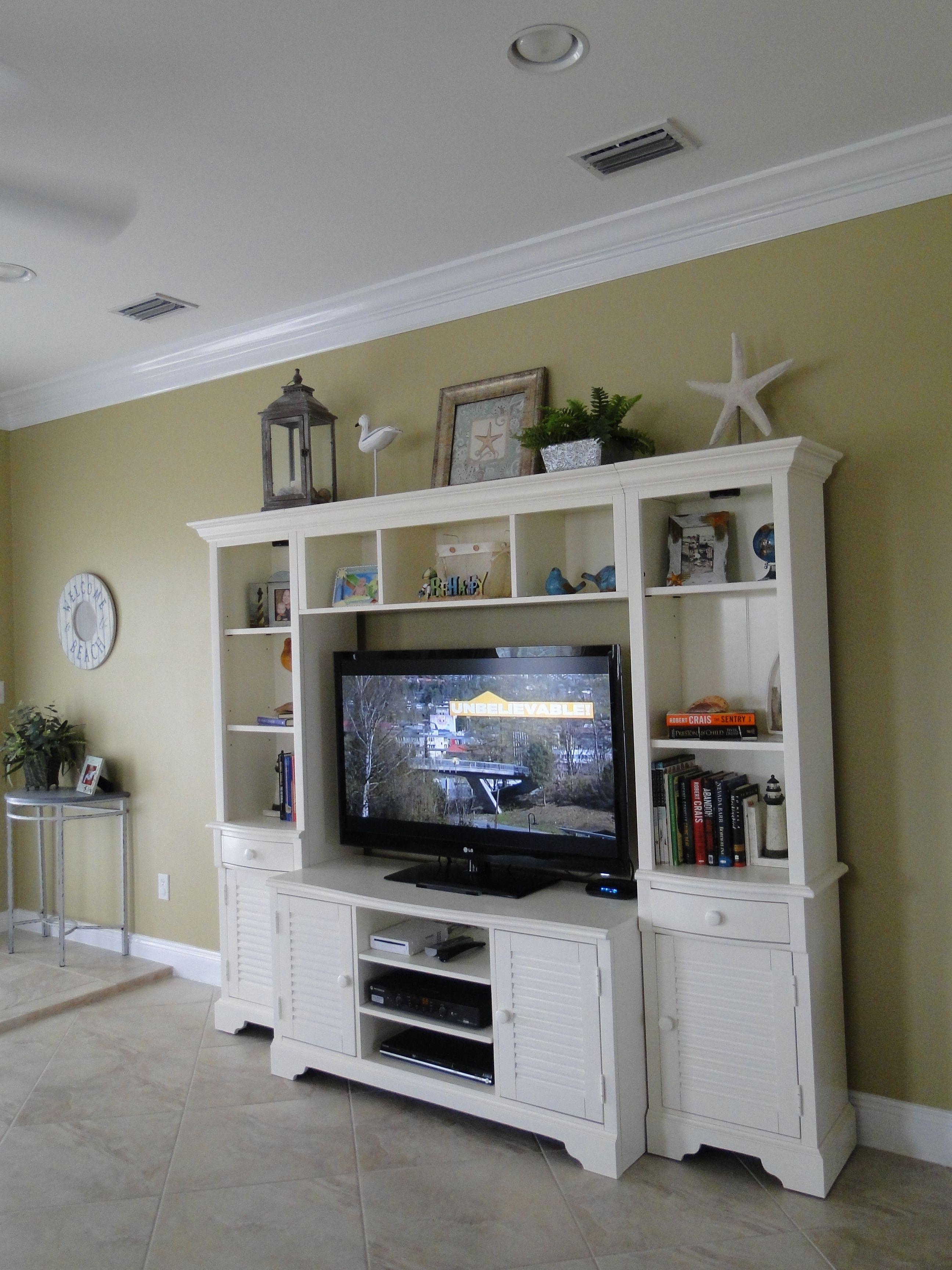 decor for entertainment center beach house pinterest. Black Bedroom Furniture Sets. Home Design Ideas