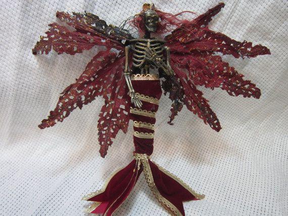 OOAK dead Skeleton Mermaid Fantasy fairy by footstepsinthewind, $15.00