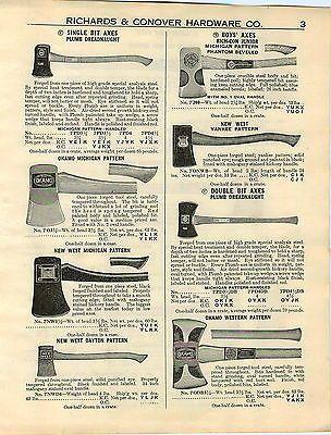 1936 Ad Plumb Axe Axes Double Bit Okamo New West Dayton 1857 Hand