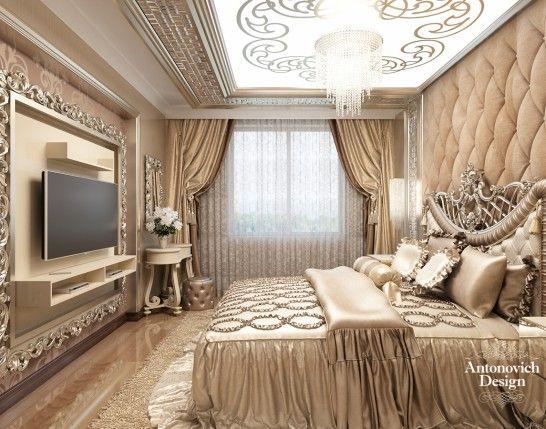 Einrichtung Schlafzimmer Interior Design Bedroom Türkis: Bedroom-The-luxurious-interior-of-the-apartment-6