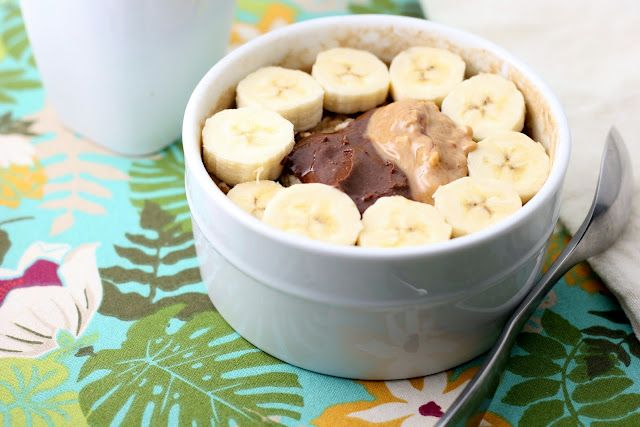 Baked Oatmeal with Peanut Butter, Bananas, & Nutella - Healthy and beyond yum!