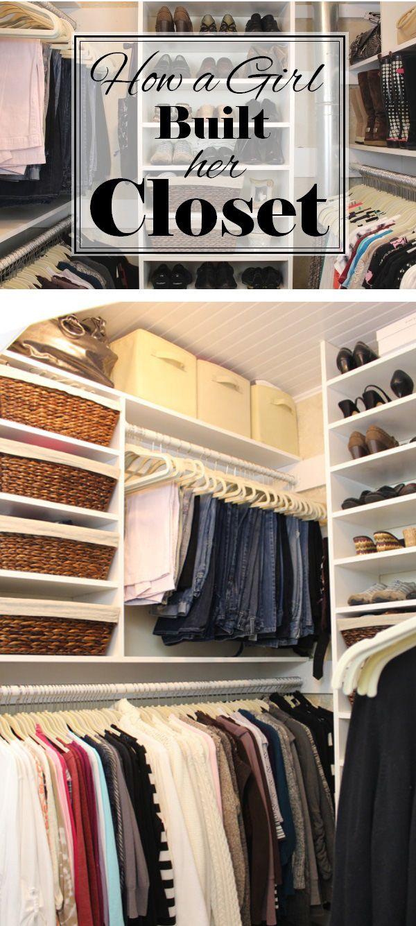 How A Girl Built Her Closet Closet Remodel Build A