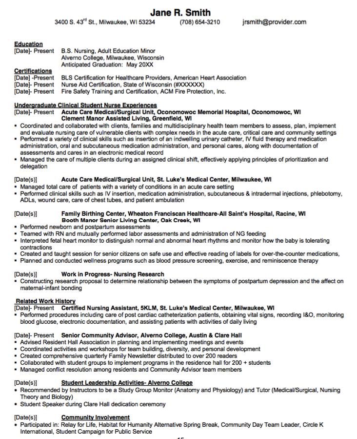 Clinic Nurse Resume Sample: Pin By Latifah On Example Resume CV