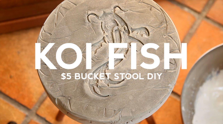 DIY Remix: Koi Fish $5 Bucket Stool