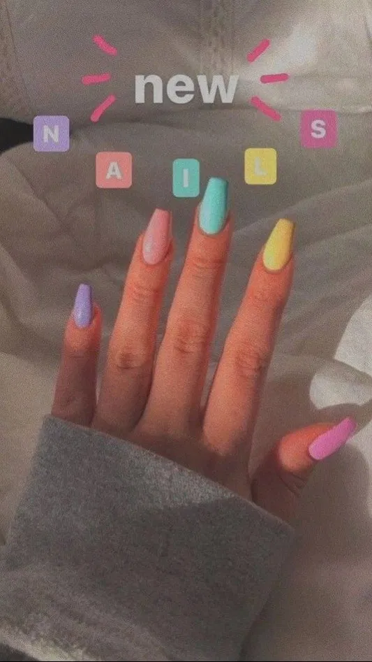 34 Trendy Summer Nails Designs That Are So Perfect For 2020 Page 51 Lifestyles In 2020 Nails Tumblr Fire Nails Short Acrylic Nails