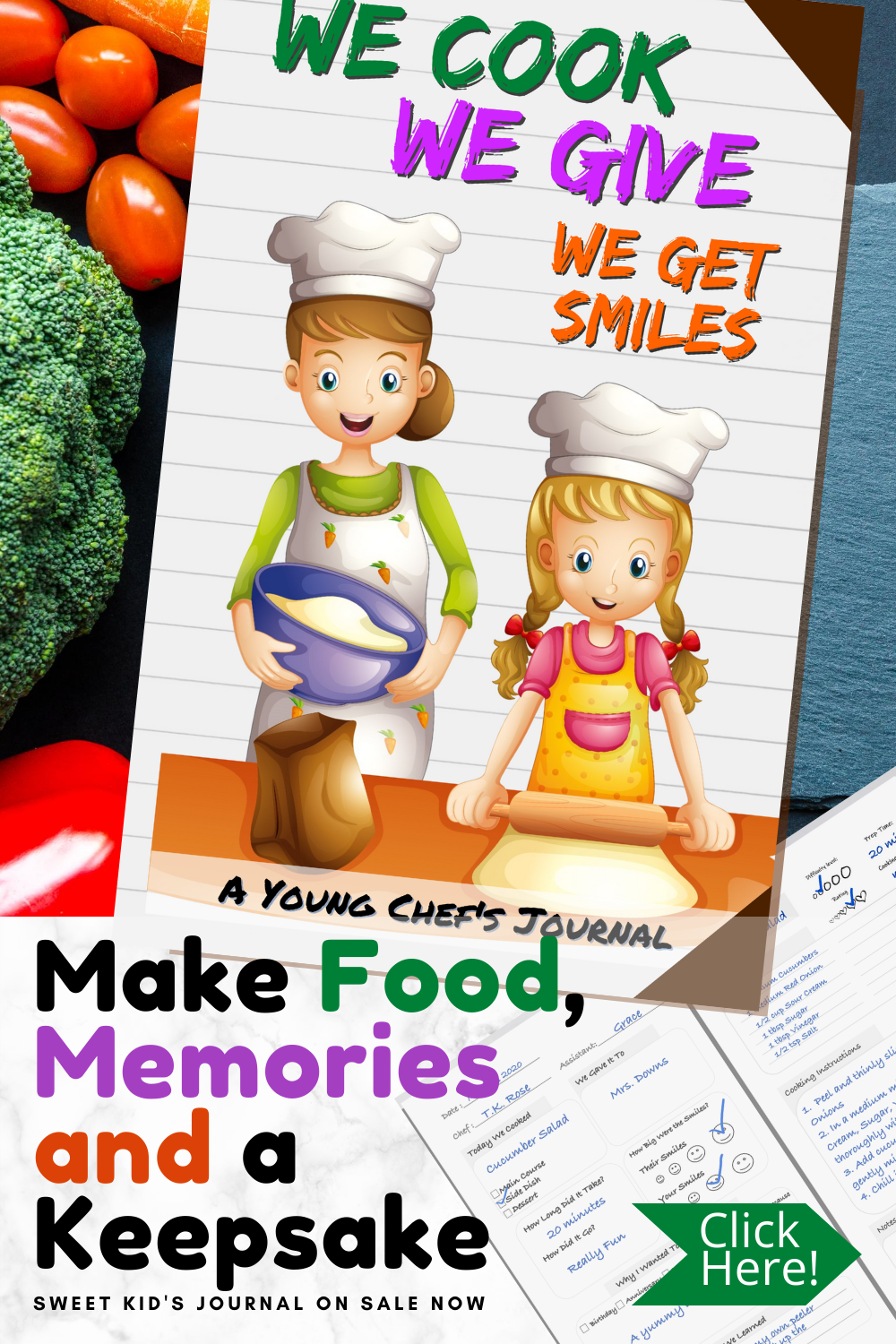 Trending Perfect Gift Young Chef S Journal In 2020 Young Chefs Kids Learn To Cook [ 1500 x 1000 Pixel ]