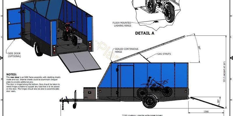 4m Enclosed Motorbike   camper   Pinterest   Trailer plans ...
