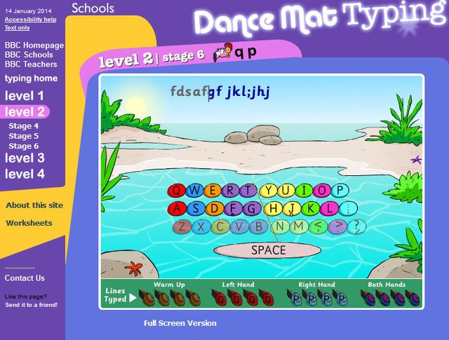 Free Typing Lessons for Kids and Adults: Dance Mat Typing's Free ...